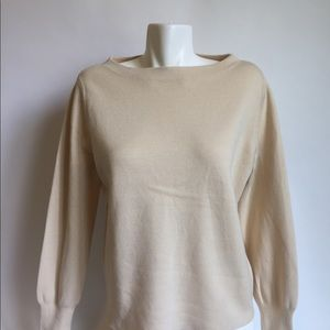 New J. Crew Ivory Top Wool Cotton size M